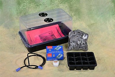 Plant Propagation Cloning Kit: Dome/Tray/Inserts, Airpump/stone/Grow Plugs MORE!