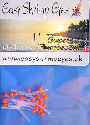 Easy Shrimp Eyes 10 Augenpaare Y - Shrimp-Augen FLUO ORANGE