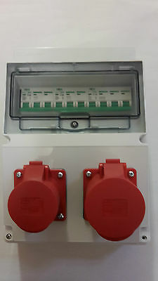 400V 3 phase16A&32A 5 Pin Industrial Red CEE Socket.Distribution board Hook Up