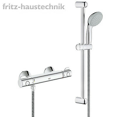 Grohe Grohtherm 800 Thermostat Brausebatterie Duschset 34565000