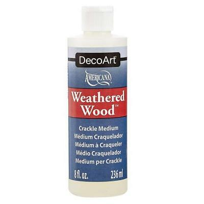 DecoArt Weathered Wood Crackle Medium - DAS8 8oz