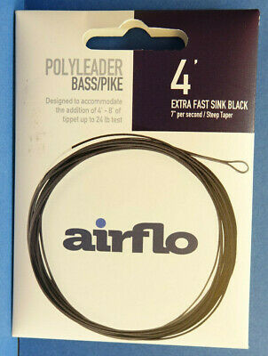 AIRFLO Polyleader BASS PIKE 4ft 1,20 Mtr. EXTRA SUPER FAST SINKING