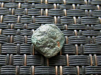 Ancient Greek Bronze Coin Unknown Very Interesting / 10mm