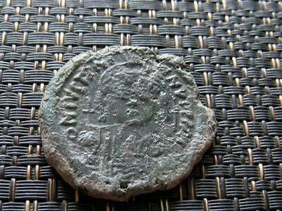 "Justinian I 565AD AE Follis Large ""M"" Constantinople Byzantine Coin 400933568679"