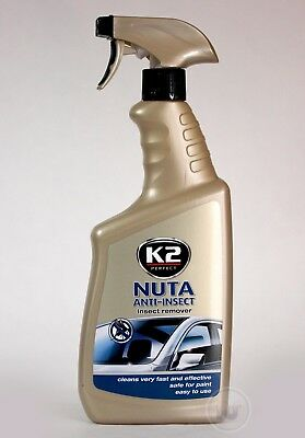 K2 NUTA Spray Windscreen INSECT REMOVER Glass Cleaner Road Dirt Bug Tar 770ml