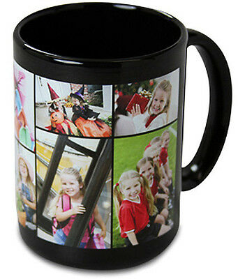 NEW Black Custom / Personalized 15 oz. Ceramic Coffee Mug with your Photo/Logo