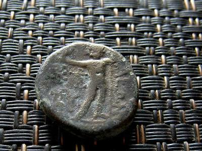 "Aegae, Aeolis 200-100 BC ""Athena & Zeus and Monograms"" Ancient Greek Bronze Coin"