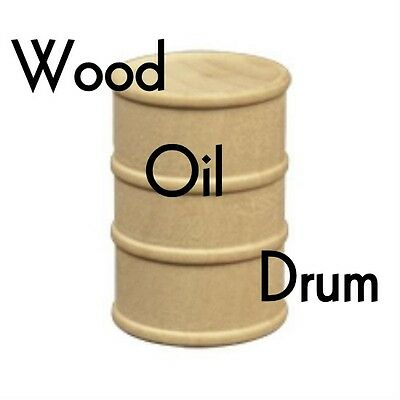 """WOOD OIL DRUM ~ Parts for Toy Making & Crafts { 1 5/8"""" x 1 1/8"""" } ~ by PLD"""