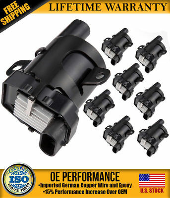 New Eight Round Ignition Coils for Chevrolet GMC 5.3L 6.0L 4.8L C1251 UF-262