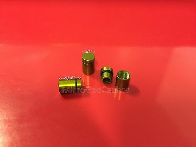 6 Green Super Micro Magnetic Geocache Cache Containers Nano Baby Bison Tubes