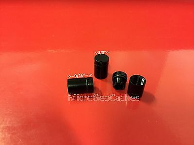 6 Black Super Micro Magnetic Geocache Cache Containers Nano Baby Bison Tubes