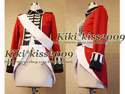 APH Axis Powers Hetalia English Cosplay Military Uniform Victorian Vintage Coat