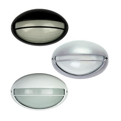 GALAXY Oval Small Eyelid Bunker Black,White Or  Silver Outdoor light OL7973