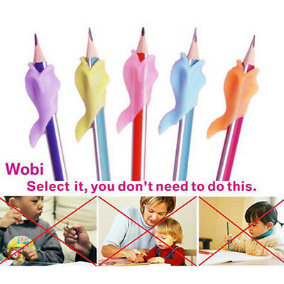 5X Dolphin Wobi Child Pencil Holder Student Writing Pen Posture Correction NICE