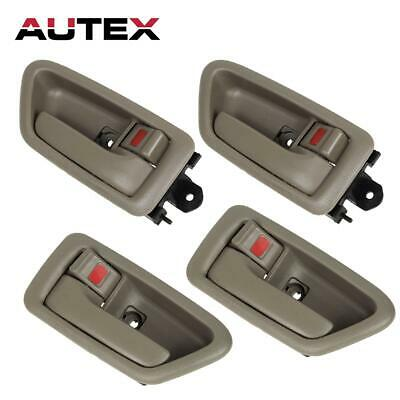 4Pcs/Set Front Rear LH + RH Side Beige Inside Door Handle for 97-01 TOYOTA CAMRY