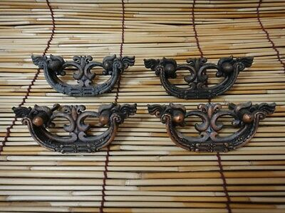 Antique Style Handles 4 Lots Set Metal Drawer Furniture From Japan