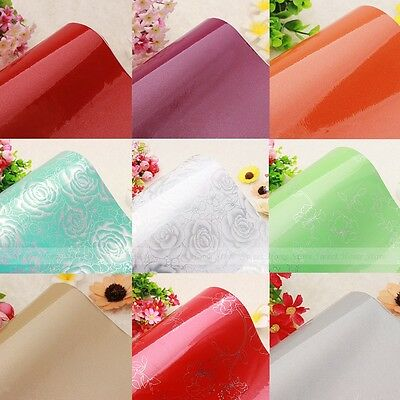 Gloss Self Adhesive Vinyl Kitchen Unit Cupboard Cover Drawer Liner Paper Sticker