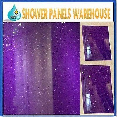 Purple Sparkle Wet Wall Panels 5mm Thick Bathroom Kitchen Ceiling Panels