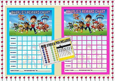 Paw Patrol Re-usable Behaviour Reward Chart (incl FREE Star Stickers and Pen)