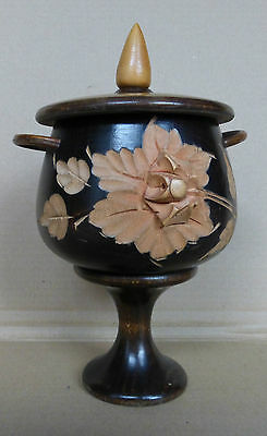 A Beautifully Carved Chalice Or Lidded Trinket Pot Goblet Mont St Odile (Os3)