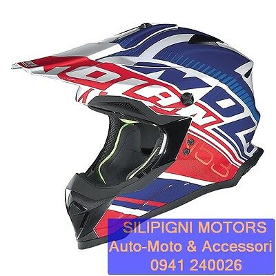 NOLAN N53 COMP 11 Metal White Casco Integrale Off Road Enduro Cross