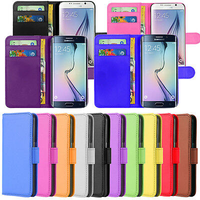 Samsung Phone Case Cover PU Leather Magnetic Book Flip Wallet For S6 & S6 Edge