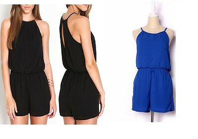 Ladies Women Clubwear Halter Playsuit Bodycon Party Jumpsuit Romper Trousers