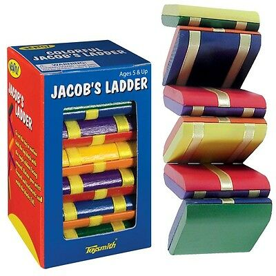 Jacobs Ladder Wooden Fidget Visual Stimulation Travel Toy Special Needs Autism