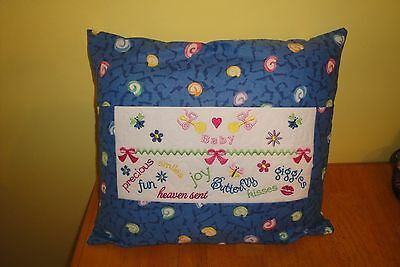 Home Made Travel Size  Or  At  Home Baby Girl Pillow.