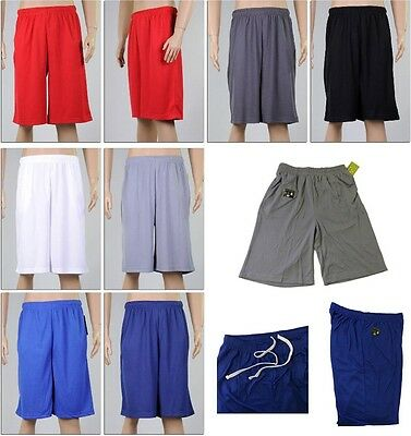 Men's Sport Shorts 10'' Inseam Mesh Quick Dry Basketball Athletic Gym Workout