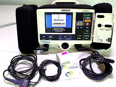 LifePak 20 Monitor 3 ECG Leads Battery Pacer