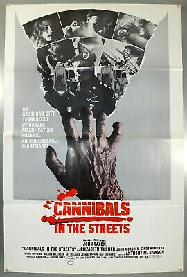 Cannibals In The Streets - John Saxon - Original American One Sheet Movie Poster