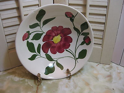 "Blue Ridge Southern Potteries Vintage Red Nocturne 9"" Vegetable Bowl Colonial"