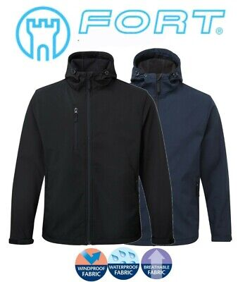Mens Waterproof Windproof Breathable FLEECE LINED Lined Hooded SOFTSHELL Jacket