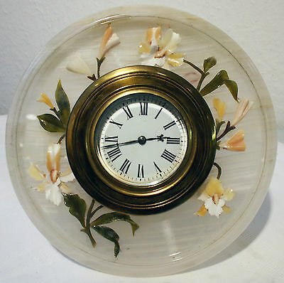 Mantel Clock From England Alabaster Art Nouveau Bristol Goldsmith Alliance