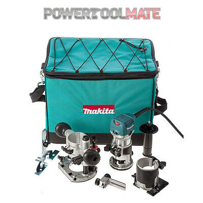 Makita RT0700CX2 Router/Trimmer with Trimmer, Tilt & Plunge Bases 240V