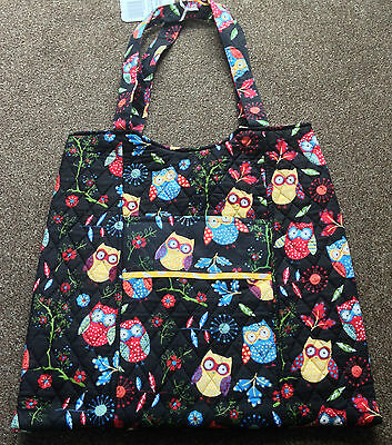CRAFT BAGS Storage for crafts sewing knitting SATCHEL or TOTE  Black Owl Design