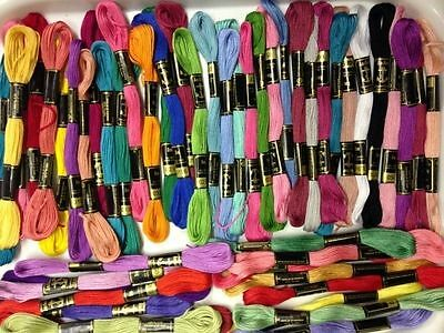 50 Anchor Solid Stitch Skeins Cotton Embroidery Thread Floss ASSORTED COLOUR NEW