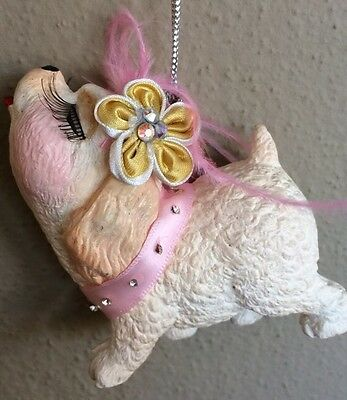 Katherine's Collection Poodle Kissing Dog Puppy Christmas Ornament NEW
