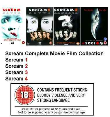Scream Complete Movie DVD Collection Set All 1 2 3 4 Films New Sealed UK Box