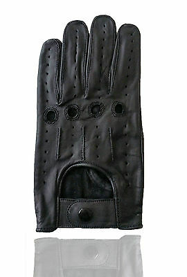 Driving Glove Genuine Leather Driving Riding Biking Trucking Fashion Small Black