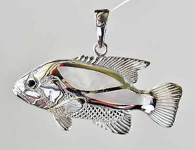 Silver Dhufish Pendant Inlaid With Mother Of Pearl. Announce Your Success.