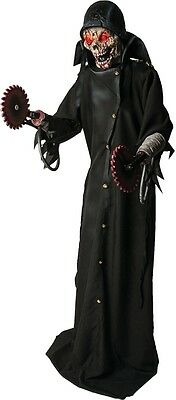 Life-Sized ZOMBIE SOLDIER Animated Prop HALLOWEEN Cyborg Decoration