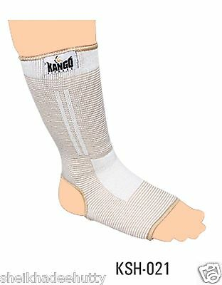 Kango Muay Thai Ankle Supports Fitness MMA Compression Kick Boxing Wraps Pair