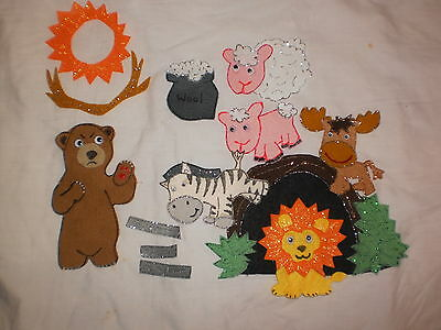 Felt Board/flannel Story Rhyme Teacher Resource - The Very Cranky Bear