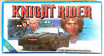 Parker Brothers KNIGHT RIDER Vintage Board Game 1983 K.I.T.T. Hasselhoff Hoff