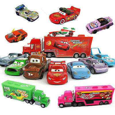 Disney Pixar Cars 43/86/95 King/Chick Hicks/Francesco/Mack Hauler Truck+Car ect