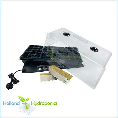 PROPAGATION CLONING KIT ​Seedling Water & Cell Tray/Dome/Heat Mat & Rockwool