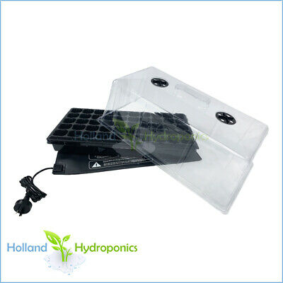 Hydroponics Grow light Propagation 50 Cell Tray Seedling Clone Dome Heat Mat
