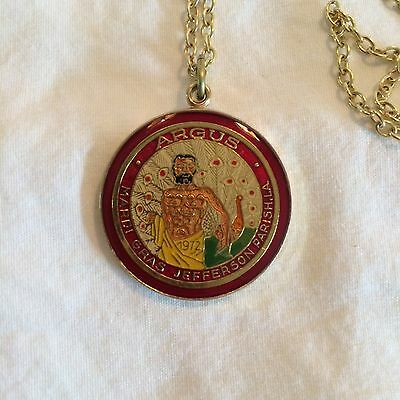 Argus 1986 Cloisonne Mini Looped Doubloon with chain